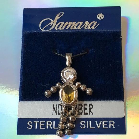 Jewelry - Vintage sterling silver November baby boy charm